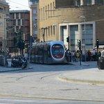 Firenze: capolinea Tram in fondo a sinistra Hotel delle Nazioni.