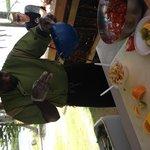 The fresh Conch Salad bar on the beach