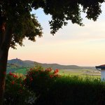 A Tuscan sunset in the garden