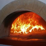 the oven on work