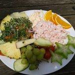 The Biggest prawn salad ever!