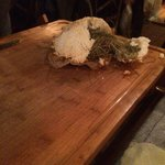 Wow! Steak cooked in real hay and crusted in salt!  Wonderful.