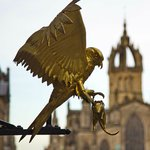 Golden Brid with St Giles behind