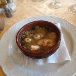 Prawns in hot garlic and chilli oil: yum!!!