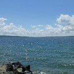 Beautiful walk along the lake