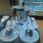Moet & Chandon w/ chocolate cake surprise