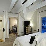 Bedroom of 1 Bedroom Suite facing Aspen Mountain