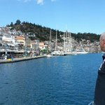 Just about to dock at Poros