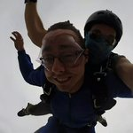 free falling with a tandem instructor at skydive the wasatch