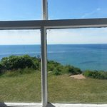 views from a window in the lighthouse...just charming