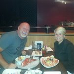 Happy travelers at Lobster Trap