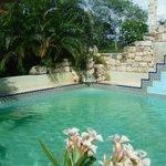 Mayan pool at Hacienda Santo Domingo