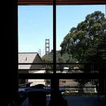 View of the hills and bridge from room 2506