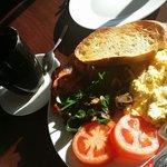 beautiful fresh breakfast
