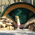 Hobbit house in the children's playground and garden area