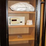 extra pillows in closet and safe