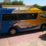 The White Shark Travel van.