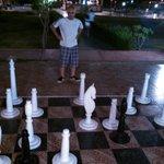 Haytham beating me in chess.