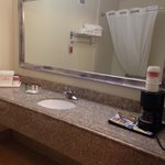 Bathroom sink and the coffeemaker ��