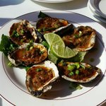 Chipotle oysters at parks seafood in seaside heights nj.