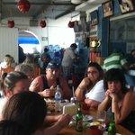 Diner time in Cozumels best sea-food restaurant!