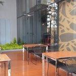 Breakfast Smoking area, outside the restaurant @ 7th floor