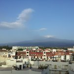 Mt Etna from our balcony