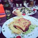 Moussaka & rucola salad