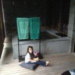 Mila will soon enjoy the hot spring