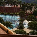 View from room, the swimming pool..