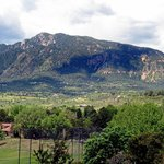 View of Cheyenne Mountain from our room