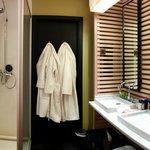 Shower/Sink Area (Toilet behind door)