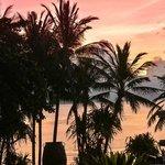 Blick vom Zimmer auf den Sonnenaufgang