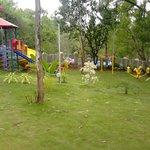 children play area and garden