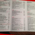 Menu Card - selected ones are highlighted in Red - Just amazing!