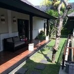 Terrace and lawns in our villa