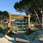 Accès à l'hôtel de la plage