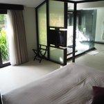 Main bedroom in spa villa.