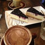 Blueberry Cheescake with Capp and HC