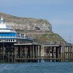 Pier and cliffs