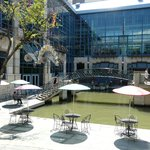 Shopping mall on the river walk