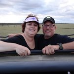 Wendy & Brian Gilvey enjoying a game drive.