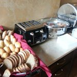 Breakfast breads, toaster and choice of boiled eggs - every day