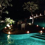 Private pool side dinner