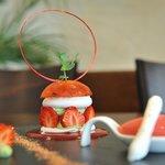Le dessert aux fraises