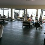 Waiting lounge at Marina Island Jetty