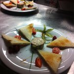 Foie gras brulé au chalumeau