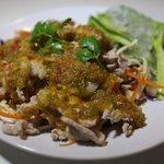 Moo Ma-Nao (Boiled Pork with Lime, Galic and Chili Sauce)