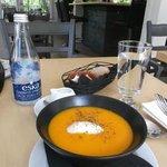 Carrot, cumin, orange soup