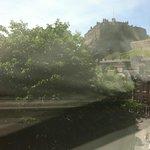 Vista del castello dalla nostra camera